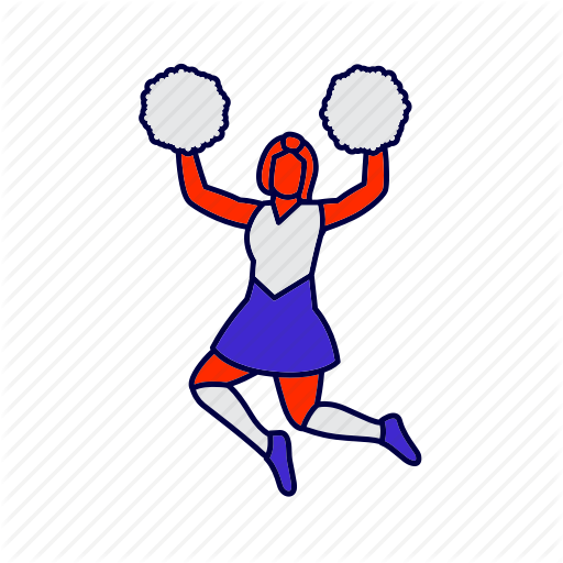 Cheer, Cheerleader, High School Icon