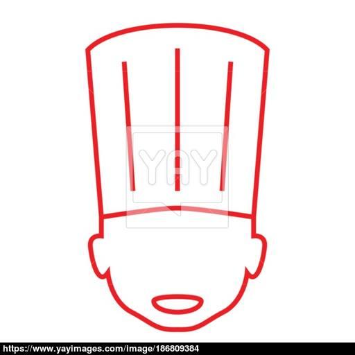 Thin Line Chef Hat Icon Vector