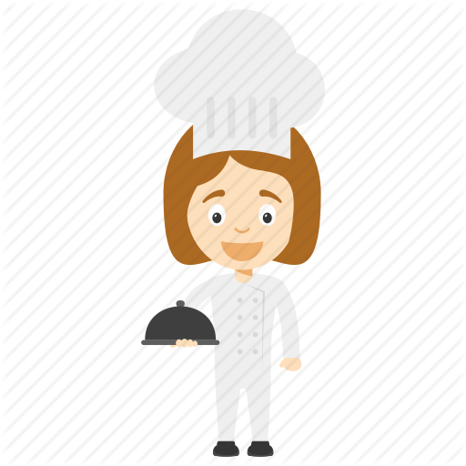Cartoon Chef, Cartoon Girl Chef, Child Chef, Child Girl Chef, Kid