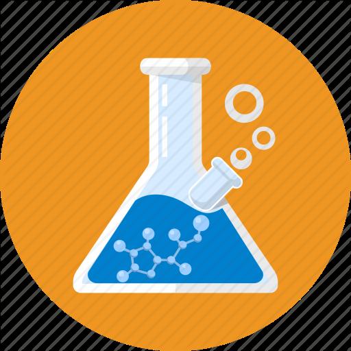 Lab Beaker Chemistry Patterns Flat Design