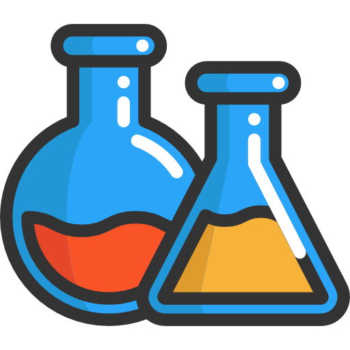 Laboratory, Flasks, Education, Chemistry, Chemical Icon