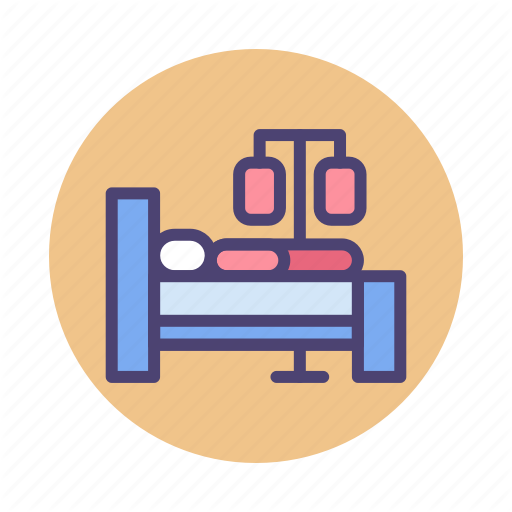 Bed, Chemo, Chemotherapy, Hospital Bed, Patient Icon