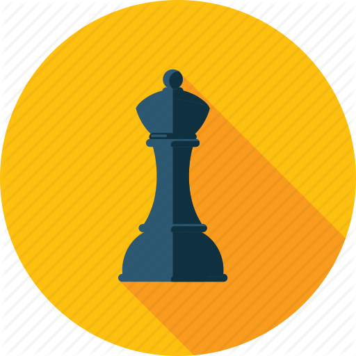 Chess, Game, Long Shadow, Marketing, Strategy Icon