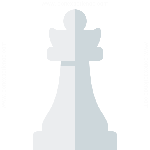 Iconexperience G Collection Chess Piece Queen White Icon