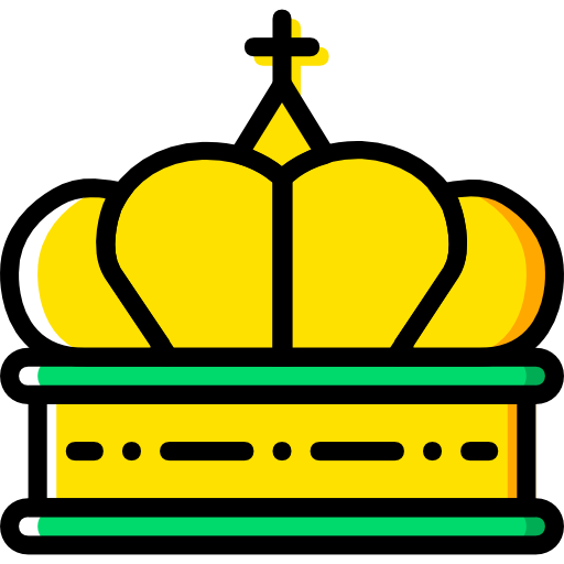 King, Shapes, Crown, Queen, Royalty, Chess Piece, Cultures Icon