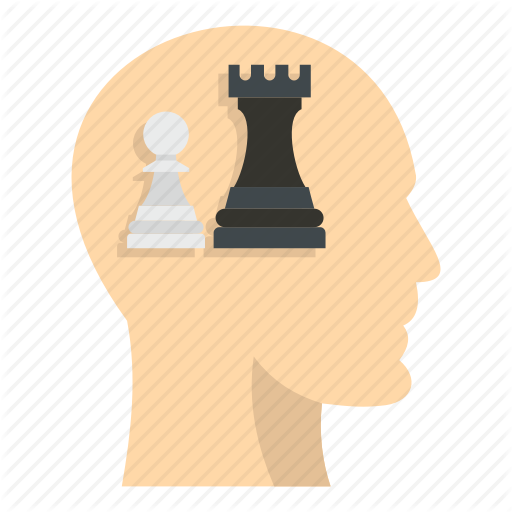 Brain, Chess, Concept, Head, Inside, Pawn, Queen Icon