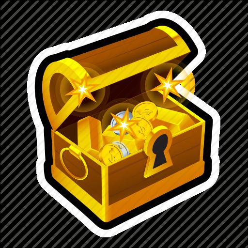 Achievement, Chest, Coin, Gold, Money, Reward, Treasure Icon