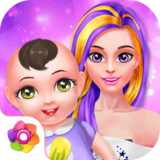 Chic Model Give Birth Baby Salon Sim
