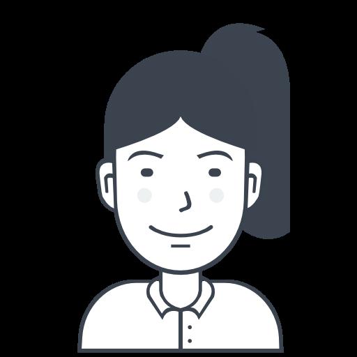 Icono Mujer, Chica Con Cola De Caballo, La Persona, El Usuario