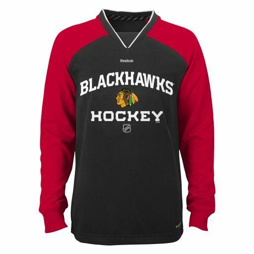 Youth Chicago Blackhawks Covert Playdry Long Sleeve T Shirt Nhl