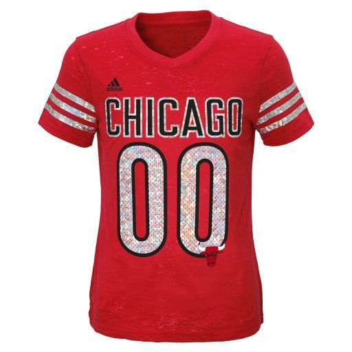 Youth Girls Chicago Bulls Football Jersey T Shirt Nba Adidas