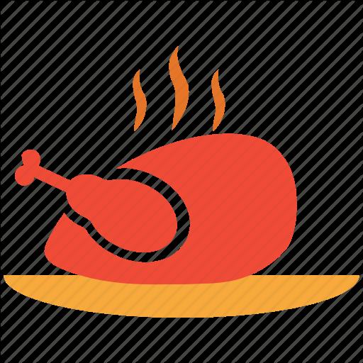 Chicken, Hot Food, Roast, Roasted Chicken Icon