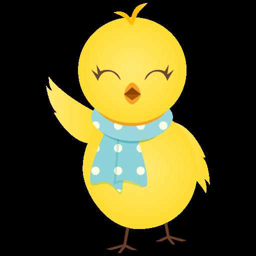 Waving Chicken Icon Cute Chicken Iconset Dapino