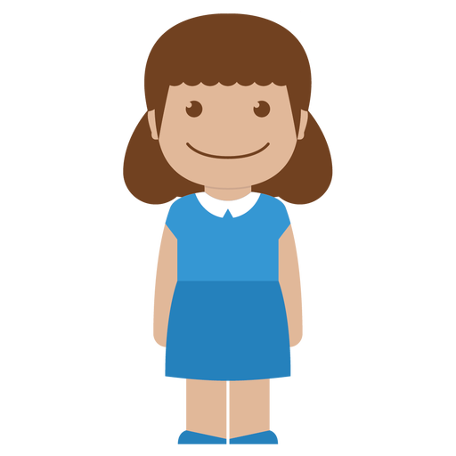 Avatar, Blue, Child, Female, Girl, Kid, Person Icon
