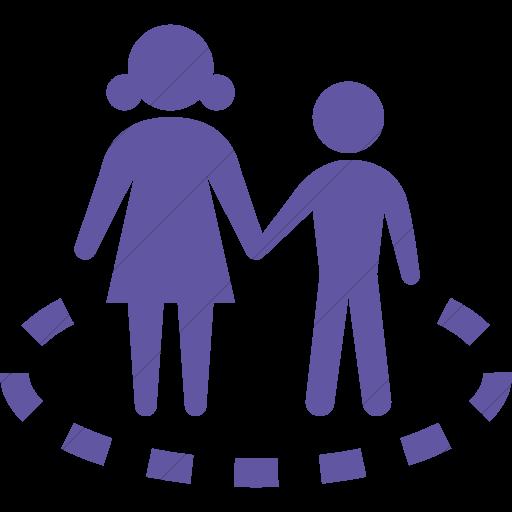 Simple Purple Iconathon Child Safe Zone Icon