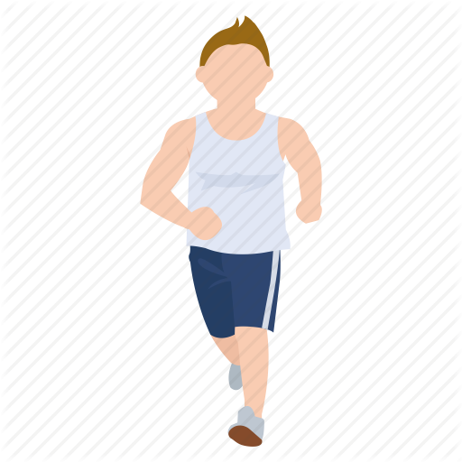 Jogging, Male, Man, Runner, Running, Sport, Work Out Icon