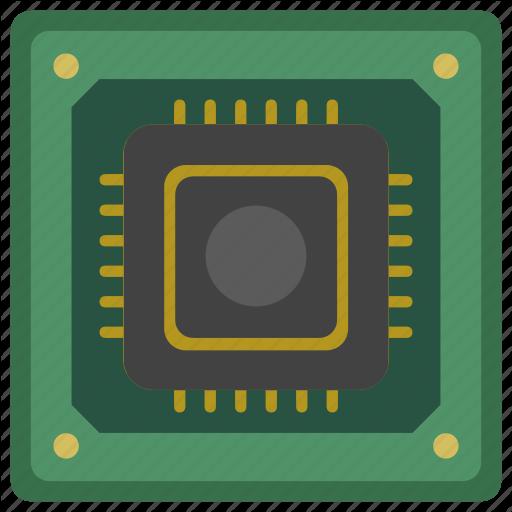 Chip, Cpu, Module, Processor Icon