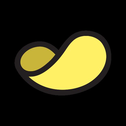 Chip, Snack, Potato Chip Icon