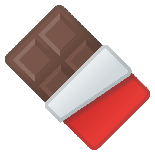 Chocolate Bar Icon Noto Emoji Food Drink Iconset Google