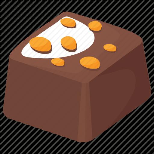Chocolate Bar, Dark Chocolate, Dessert, Nut Chocolate, Sweet Food Icon
