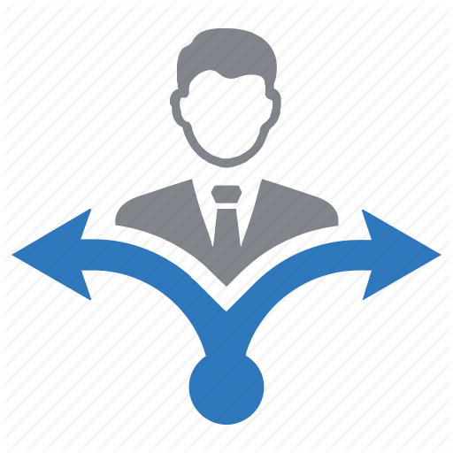 Business, Choice, Decision Making, Direction, Strategy Icon