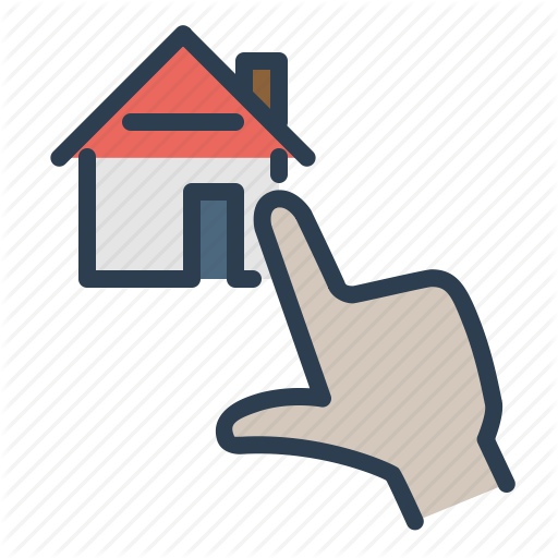 Choose, Click, Home Loan, House, Online Icon