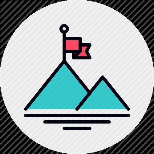 Market, Mountain, Peak, Reach Icon