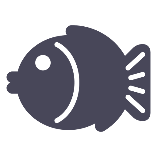 Japan Fish Icon Black