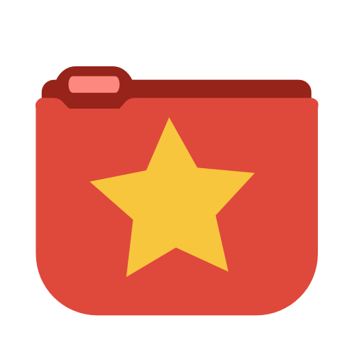 Favorites Star Folder Icon Png