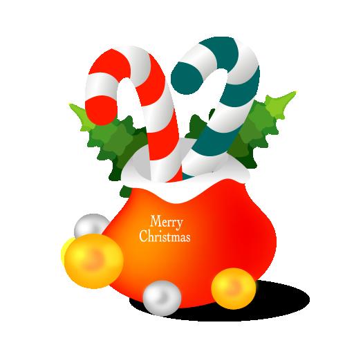 Christmas Gift Bag Icon Santa Iconset Mid Nights