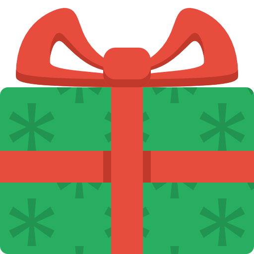 Gift Icon Christmas Flat Color Iconset