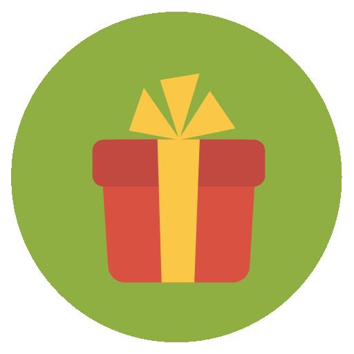 Gift Icon Flat Christmas Circle Iconset Fps
