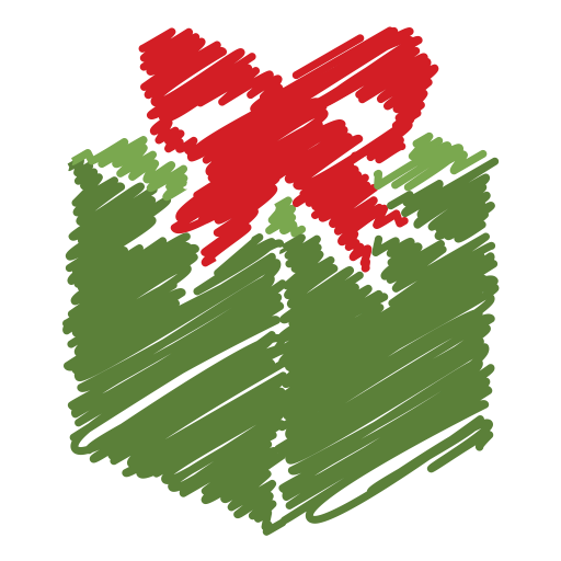 Scribble, Bow, Gift Icon