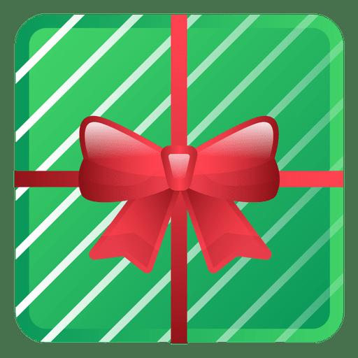 Shiny Green Christmas Gift Icon