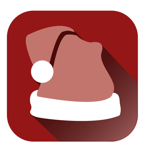 Santa Hat Red Square Icon