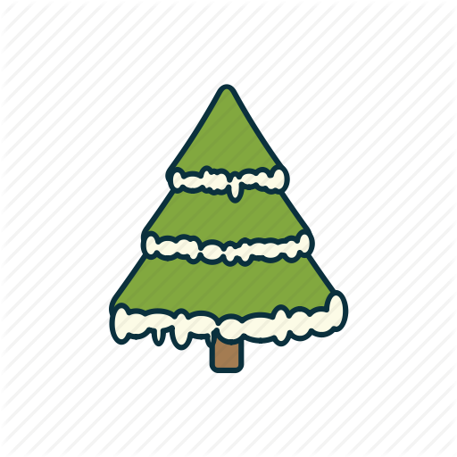 Christmas, Elements, Fir Tree, Holidays, Pack, Snow, Icon