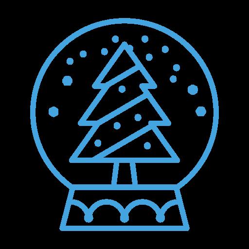 Snowglobe, Decor, Decoration, Tree, Snow, Christmas Icon