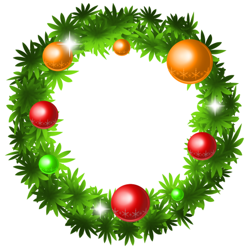 Xmas Wreath, Holiday Icon Png