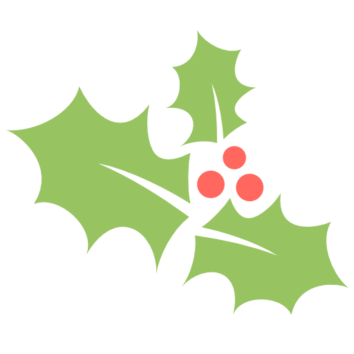 Holly Leaf Icon Flat Christmas Iconset Psdblast