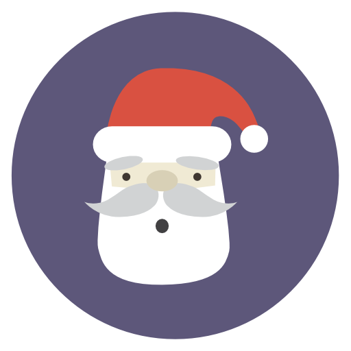 Santa Icon Flat Christmas Circle Iconset Fps