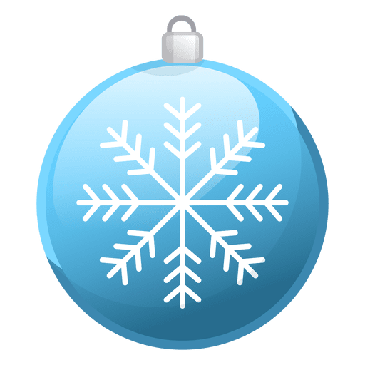 Shiny Blue Christmas Ornament Icon