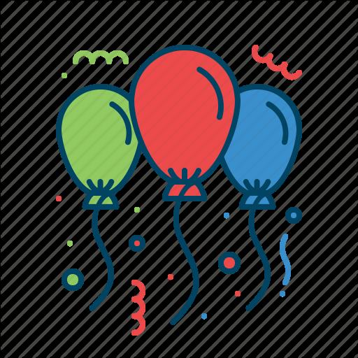 Balloon, Celebration, Christmas, Decoration, Party Icon