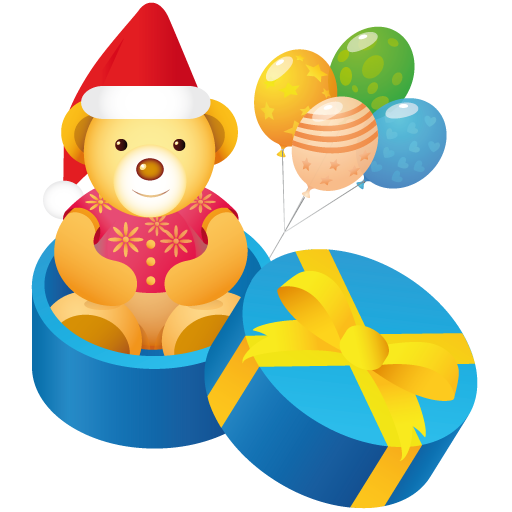 Teddy Gift Icon Christmas Iconset Mohsen Fakharian