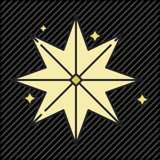 Christmas, Holy, Star Icon