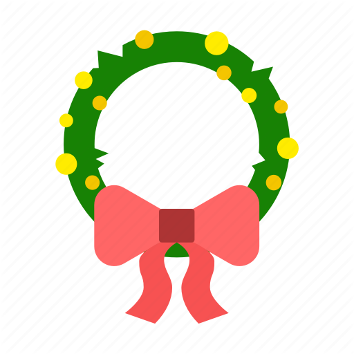 Bow, Bowknot, Christmas, Decoration, Holiday, Wreath Icon