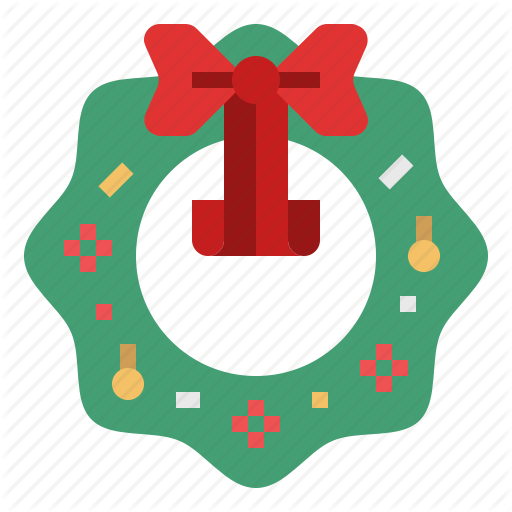 Christmas, Decoration, Ornament, Wreath, Xmas Icon
