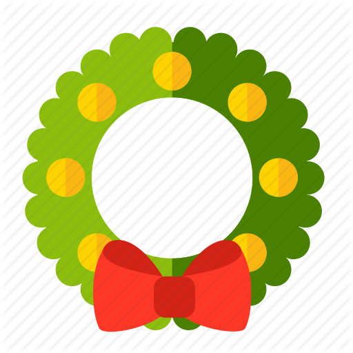 Christmas, New Year, Wreath Icon