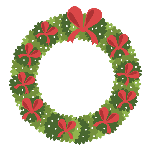 Christmas Wreath Red Bows Icon