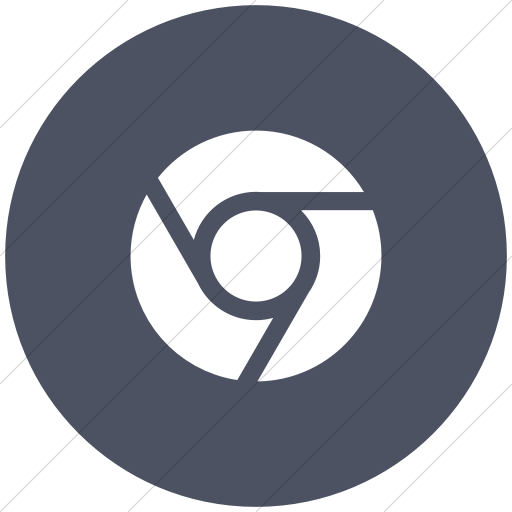 Flat Circle White On Blue Gray Social Media Chrome Icon