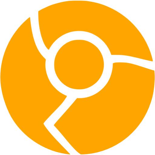 Orange Chrome Icon
